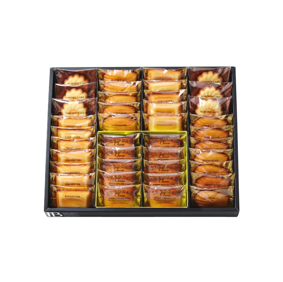 マドレーヌ・フィナンシェ・ベイクドチーズケーキ(北海道チェダー)・アーモンドケーキ(ミニ)詰合せ 40個入