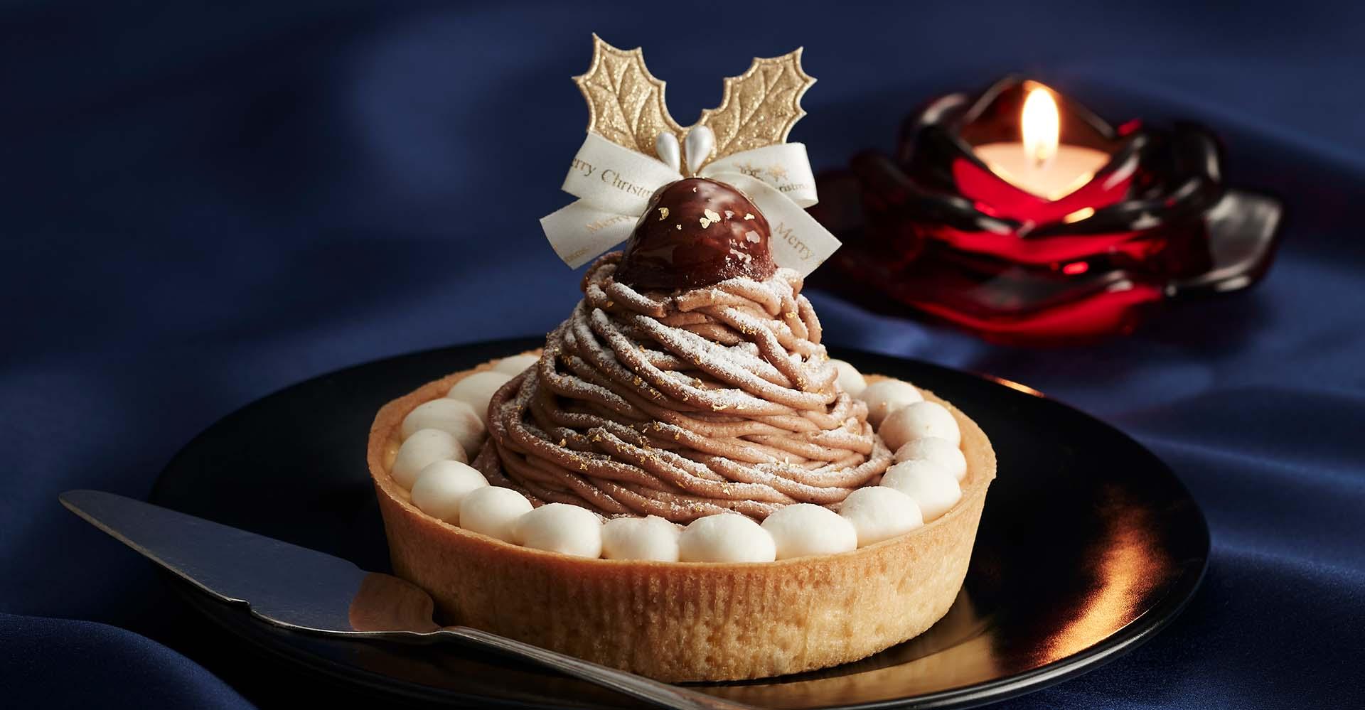 CHRISTMAS MONT BLANC CHEESE CAKE